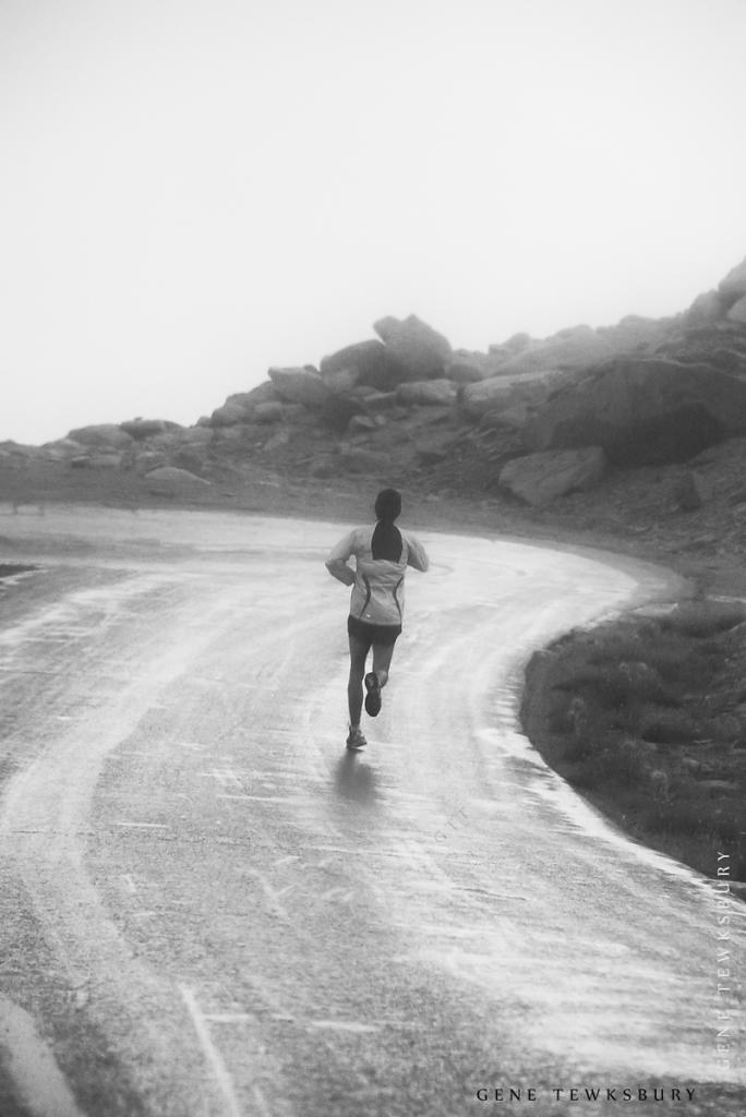 Running on Mount Evans
