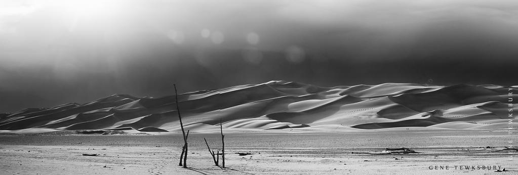 Great Sand Dunes in Black and White