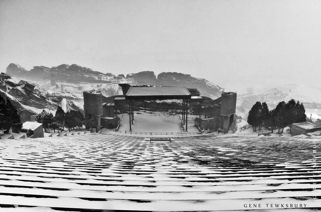 Red Rocks Amphitheater in Snow
