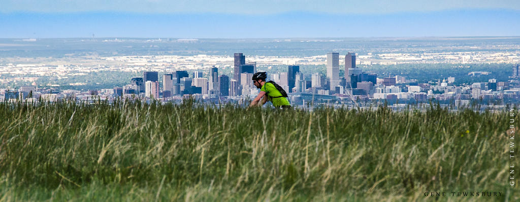 Biking above Denver